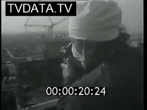 Chernobyl nuclear reactor disaster Live stock footage fs1845