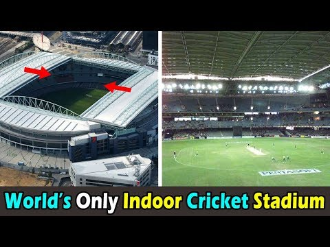 World's one and Only Indoor Cricket Stadium with Retractable covered Roof