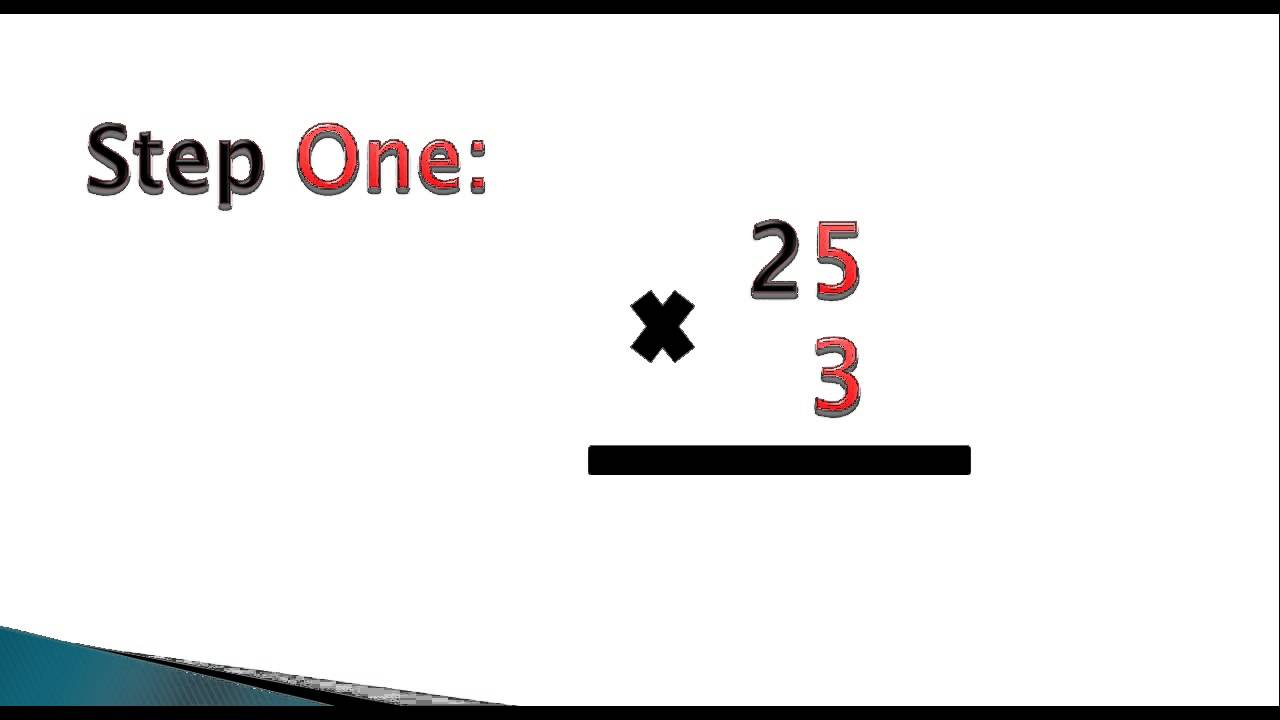 2 Digit By 1 Digit Multiplication Youtube