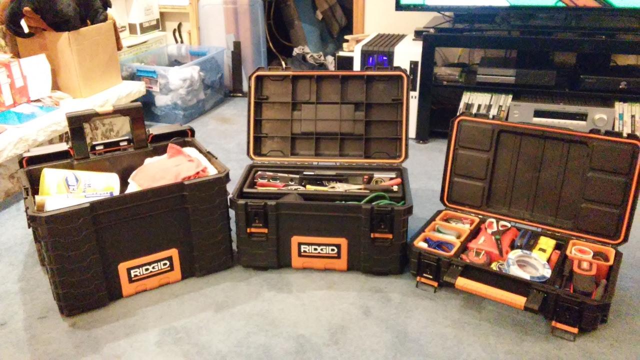 Ridgid Portable Modular Tool Box System Youtube