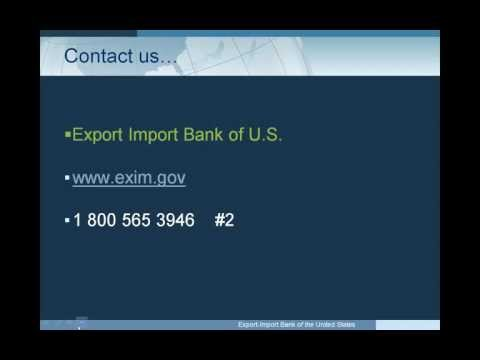 EXIM Bank Webinar: Competitive Financing for Your Foreign Buyers