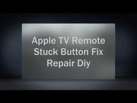 Apple TV Remote Button Stuck Fix Repair Diy