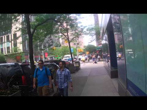 Walking Down Greenwich street in New York City