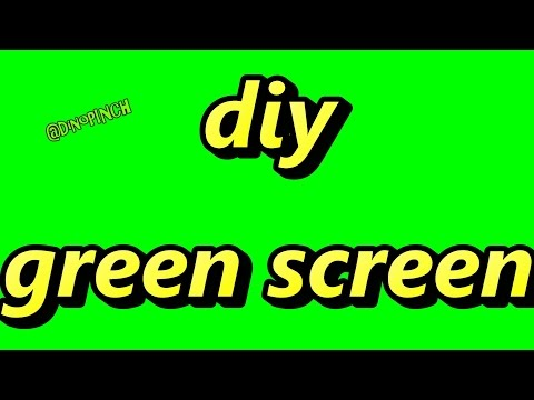 make your own green screen for video production editing ...