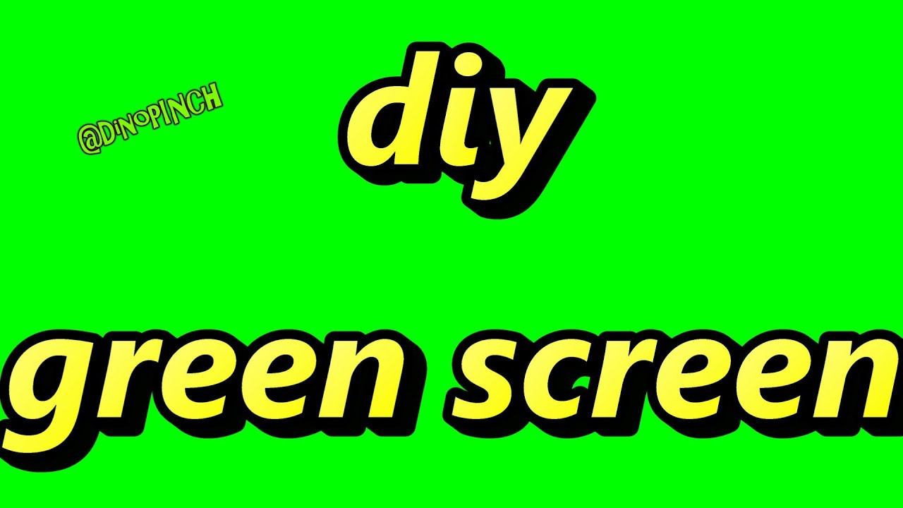 DIY green screen, video production, included color code - YouTube