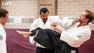 Стивен Сигал даёт мастер-класс по айкидо в Москве