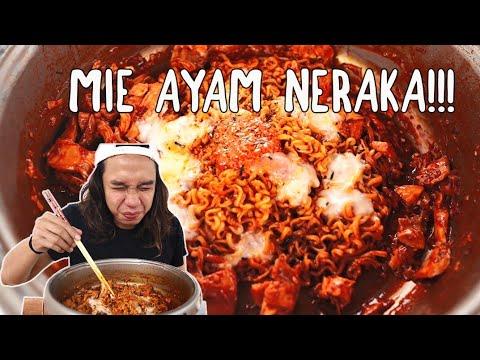 SAMYANG + 1 TOPLES SAMBAL BALADO + AYAM PANGGANG = MIE AYAM  NERAKA!!