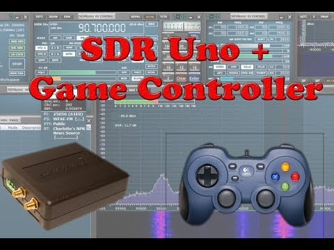 SDRPlay SDRUno control with Logitech gaming controller