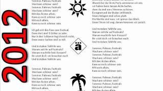 Sommer, Palmen, Sonnenschein (Festivlas)