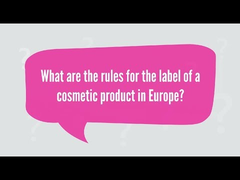 Labelling Instructions For Cosmetic Products In The EU