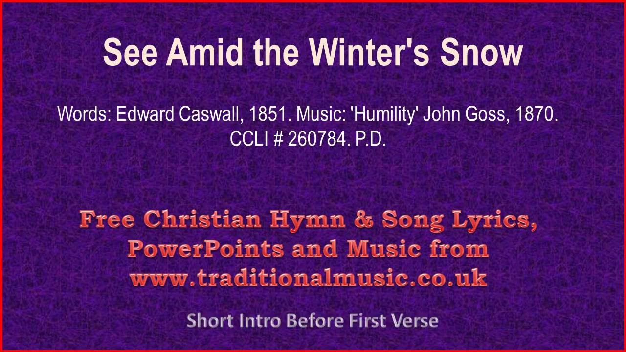 see amid the winters snowv2 christmas carols lyrics music chords chordify