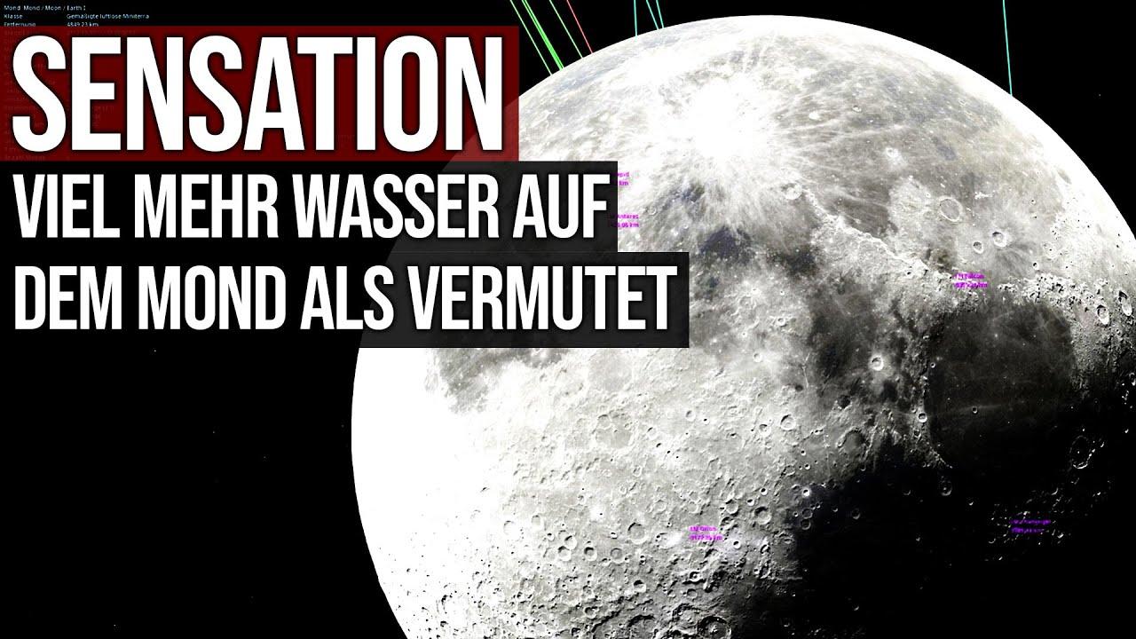 Sensation - Viel mehr Wasser auf dem Mond als vermutet