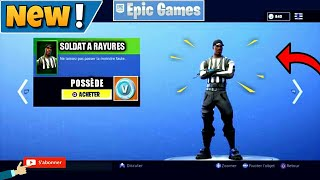 HOW TO THE NEW SKIN SOLDAT A RAYURES ON FORTNITE