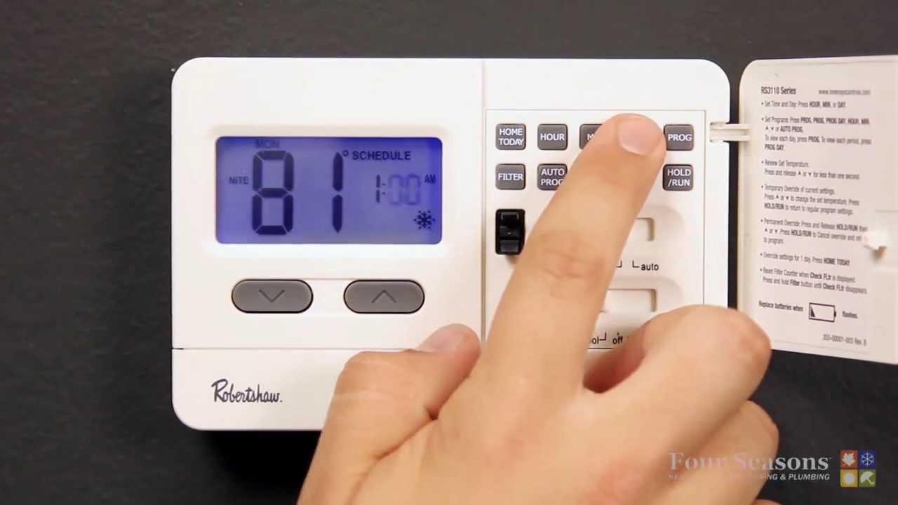 programming your robert shaw thermostat youtube rh youtube com Robertshaw Thermostat User Manuals White Rodgers Thermostat Wiring Diagram