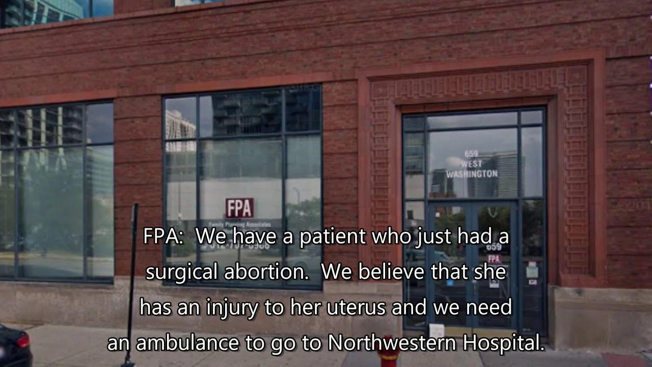Clínica de aborto leva mulher ao hospital com ferimentos potencialmente fatais.