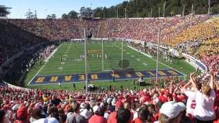 Opening kickoff Cal vs. Ohio State Football 2013 Memorial Stadium Berkeley California