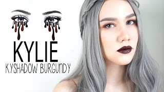 PearlNWStyle : Kylie Kyshadow Burgundy winter look