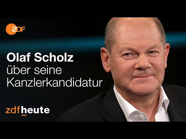 Olaf Scholz spricht über Kanzlerkandidatur   Markus Lanz vom 05.11.2020