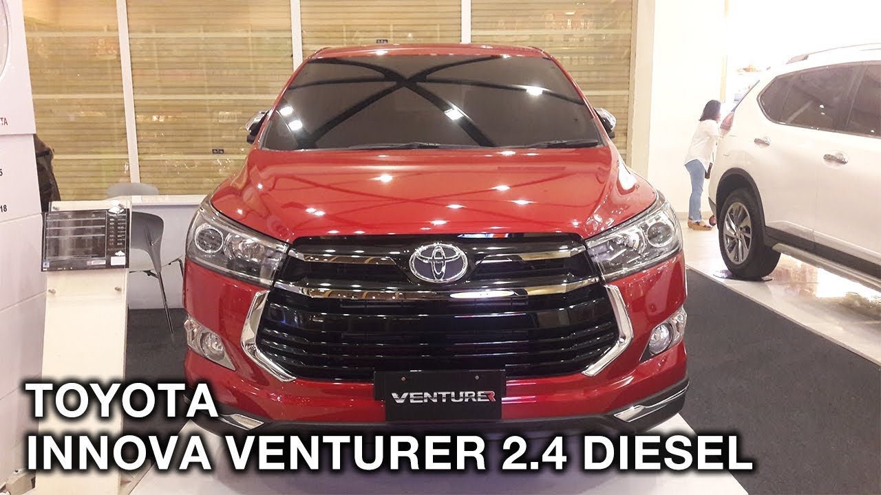 All New Innova Venturer Diesel Camry Singapore Toyota 2 4 2017 Exterior And Interior Youtube