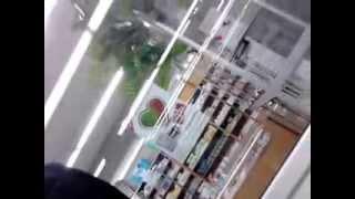 Охрана магазина...вам нужно разрешение на съемку)))