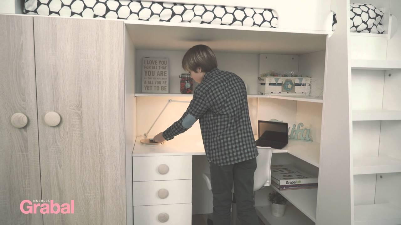 camas altas con armario debajo
