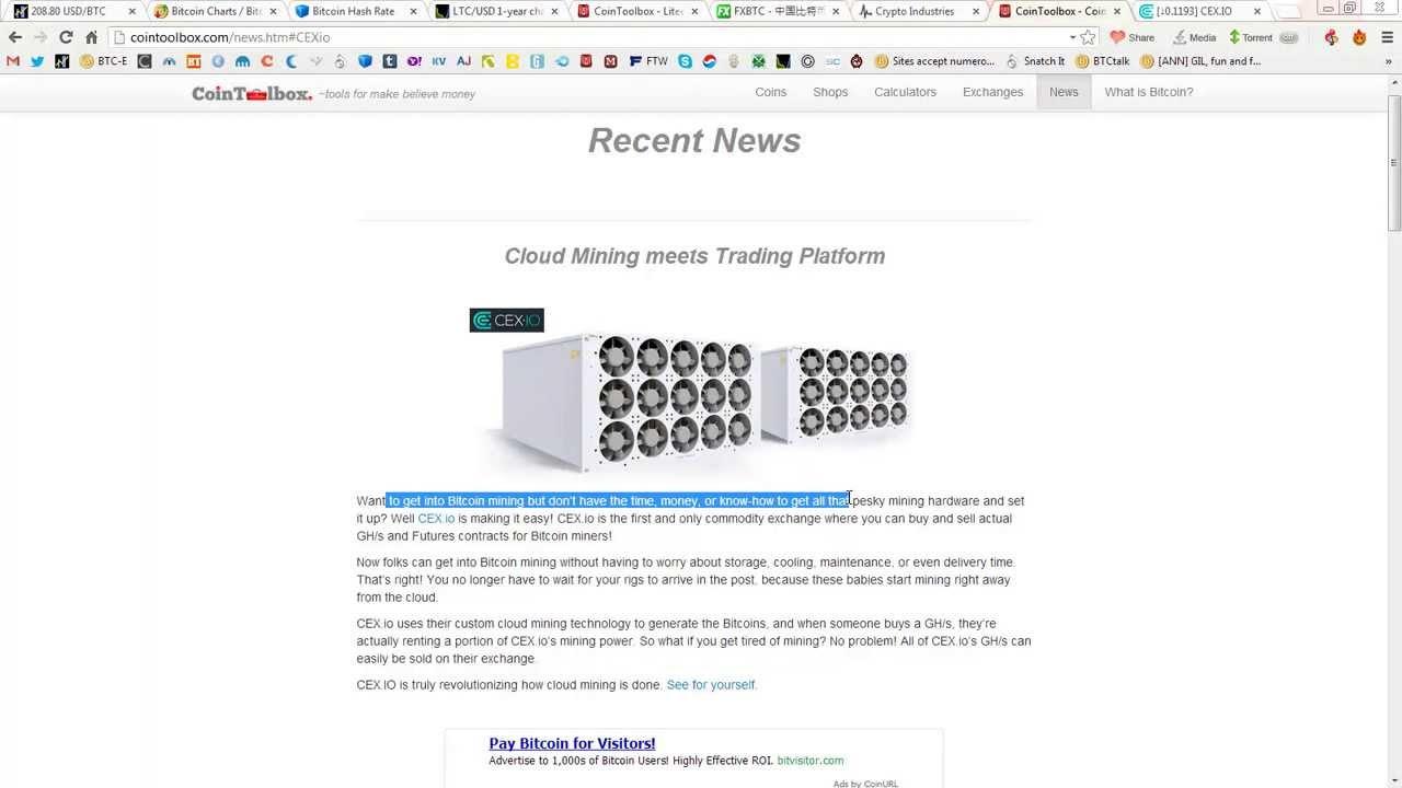 cex io mining calculator