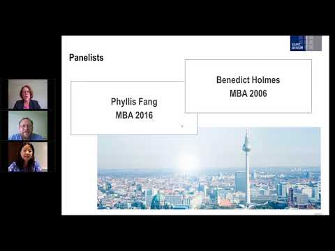 ESMT Berlin webinar - An interview with two MBA alumni