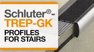 How to install tile edge trim on stairs: Schluter®-TREP-GK profile