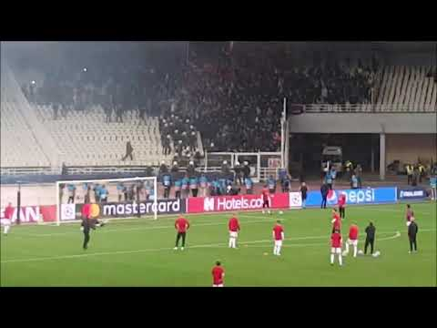 Ajax fans vs. police before the game with AEK in Athens 27.11.2018