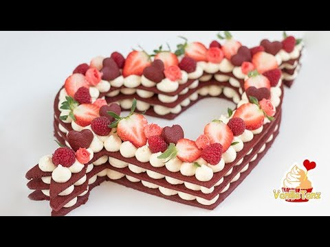 Trend Cake 2018 Red Velvet Cream Tart Number Valentines Day Edition