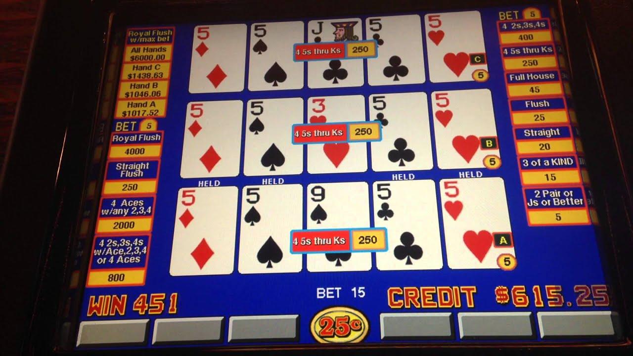 Double Double Bonus Video Poker Triple Play Youtube