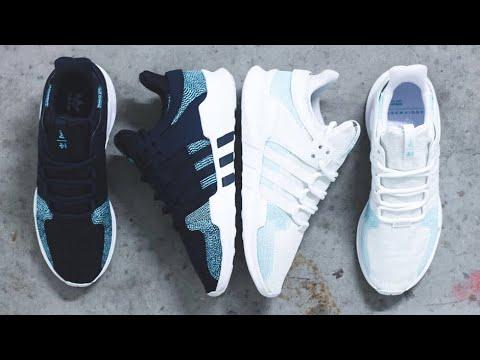 Parley x Adidas EQT Support ADV leyenda Ink   blanco corriendo YouTube
