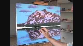 Видео 5 части 15, как рисовать горы и озеро с акрилом(Как рисовать горы и озеро с акрилом на холсте. В этом видео я объяснить каждый шаг живопись процесс скалы,..., 2011-08-28T17:55:18.000Z)
