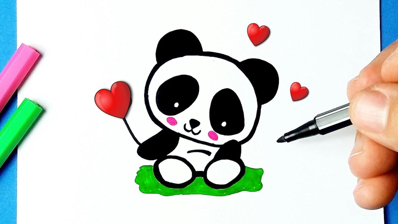 Como Desenhar Ursinho Panda Fofo Desenhos Bonitos Desenho