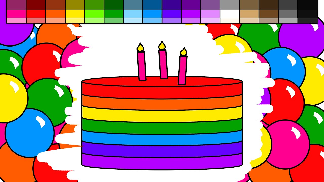 learn colors for kids and color rainbow candy and layered birthday