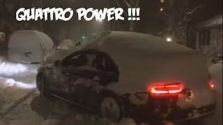 AUDI QUATTRO A8 Snow fun