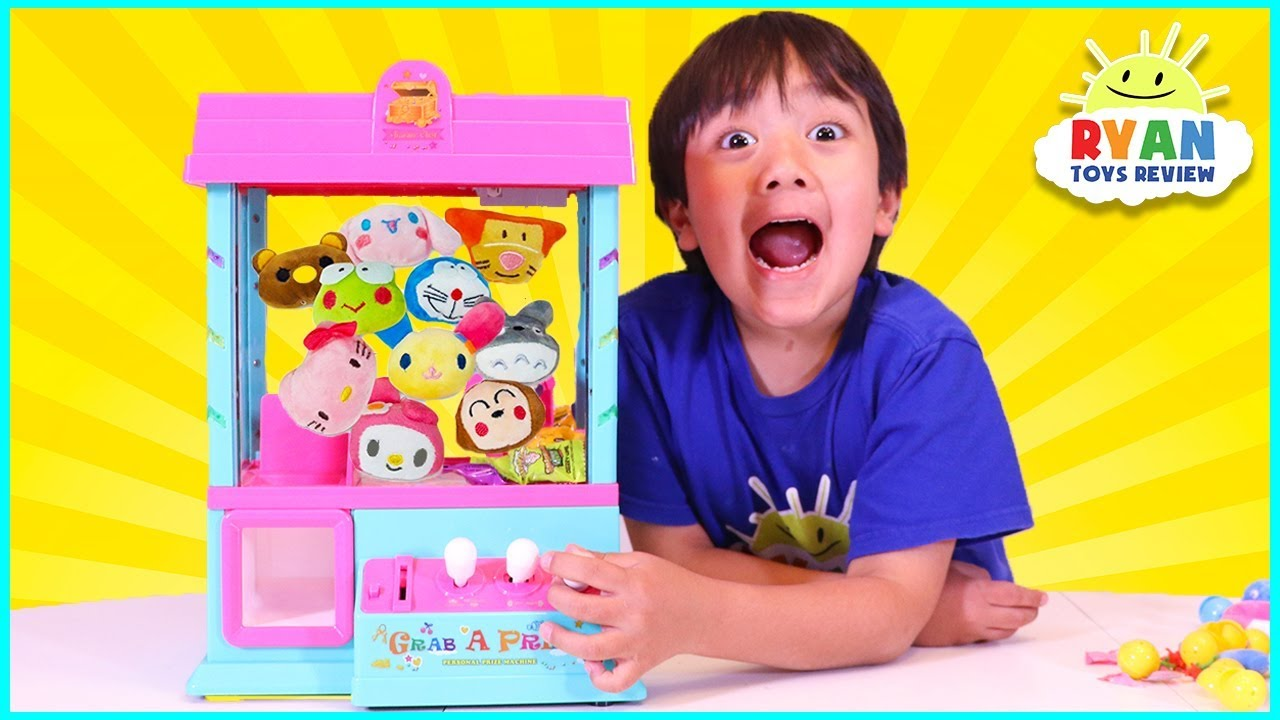 arcade claw machine game for surprise toys  ryan