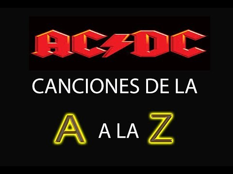 ACDC:LAS CANCIONES MÁS FAMOSAS EN GUITARRA DE LA A A LA Z!!