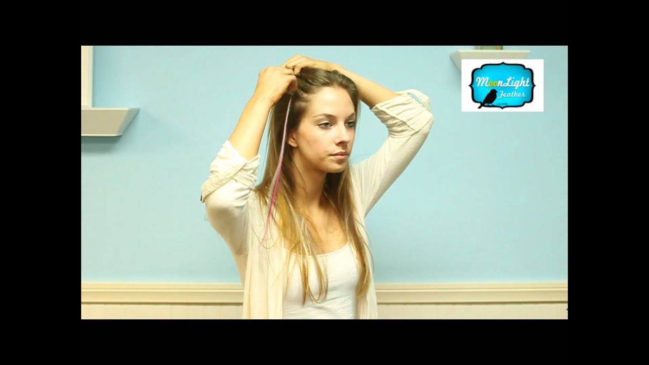 Clip In Feather Hair Extensions Youtube
