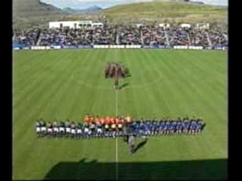 Faroes - Slovenia 2-2. 2002 World cup qualifiers. Part 1. First half. Strong Faroese Team