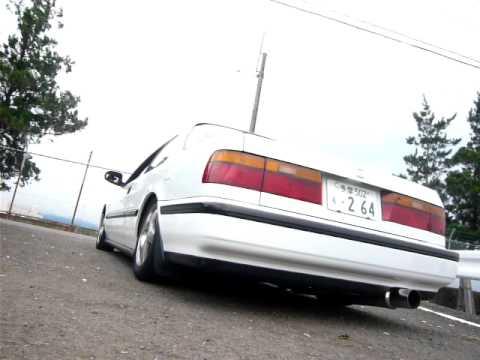 90 honda accord custom exhaust CB7 - YouTube