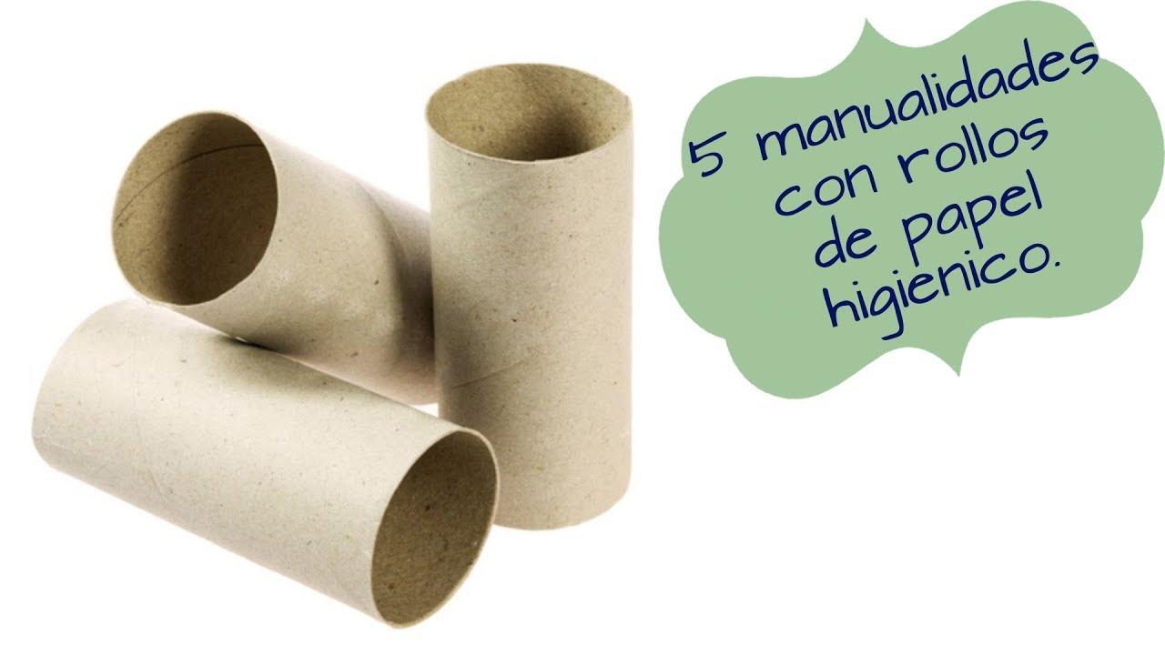 5 Manualidades Con Rollo De Papel Higienico Y Tubos De Carton Youtube