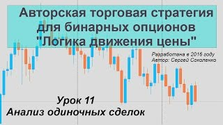Урок 11 Анализ одиночных сделок