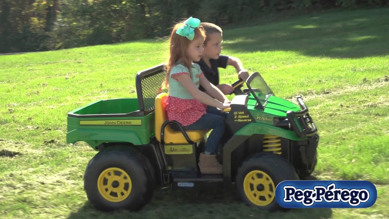 peg perego john deere gator xuv youtube. Black Bedroom Furniture Sets. Home Design Ideas