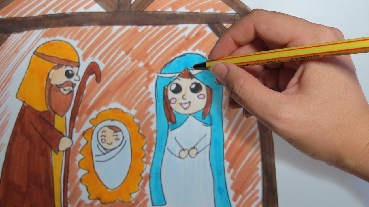 Como Dibujar Un Portal De Belen Paso A Paso Facil Para Navidad