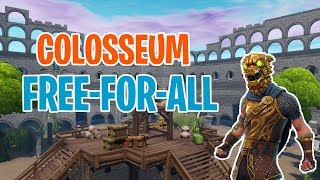 COLOSSEUM FFA - INSANE FORTNITE CREATIVE FFA WITH CODE!