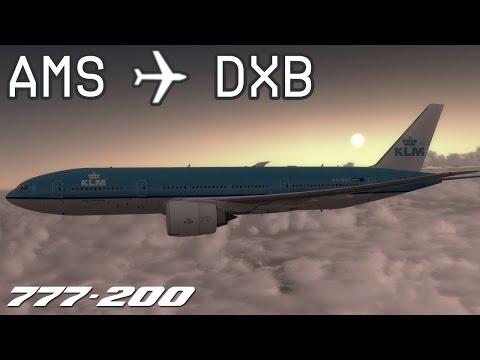 [P3D v3] Amsterdam-Schiphol to Dubai | KLM427 | KLM Royal Dutch Airlines | PMDG 777-200 | IVAO