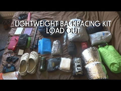 Lightweight Backpacking Kit Load Out