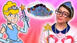 Cinderella Craft - How To Make A Princess Crown & Magic Wand - W/ Crafty Carol At Cool School)