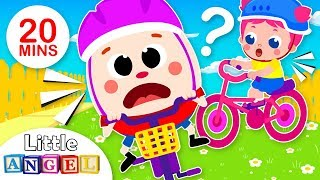 Humpty Dumpty, Too Scared to Ride a Bike | Safety Tips | Kids Songs & Nursery Rhymes by Little Angel
